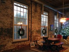 Former cotton mill living room - pictures need to be hung