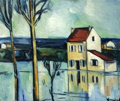 House on the Banks of a River - Maurice de Vlaminck