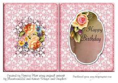 Rose Happy Birthday A5 Insert   Craftsuprint