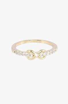 Cute infintiy ring. Great everyday wedding band alternative
