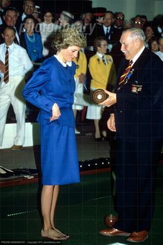 October 11 1988 (p.m.)  Diana, Patron, English Women's Indoor Bowling Association and the Welsh Bowling Association, opened the new Indoor Bowls Club, Stockingstone Road, Luton, Bedfordshire