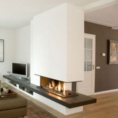 Like the black granite across Fireplace Hearth, Home Fireplace, Modern Fireplace, Living Room With Fireplace, Diy Interior, Room Interior, Interior Design Living Room, Living Room Designs, House Extension Design