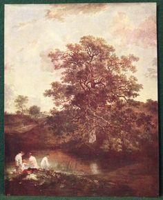 Original 1914 Cassell Print The Poringland Oak by John Crome - Bookplate
