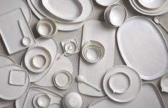 white on white (ceramics by Henry Street Studio, photo by Armando Rafael, styling by Nidia Cueva)