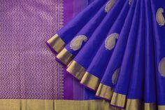 Handwoven Kanjivaram Silk Sari with Manga Motif 1030536 - Sari / Silk Saris - Parisera Designer Blouse Patterns, Design Patterns, Sari Silk, Silk Sarees, Indian Clothes, Indian Outfits, Kanchipuram Saree, Traditional Sarees, Saree Dress