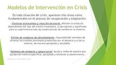 Resultado de imagen para modelos de intervencion en crisis