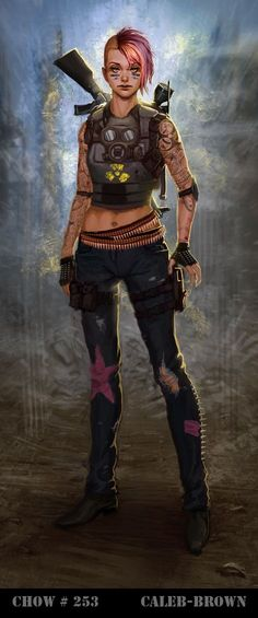 woman warrior post apocalyptic | Cyberpunk, Marauder Concept Art by Caleb-Brown