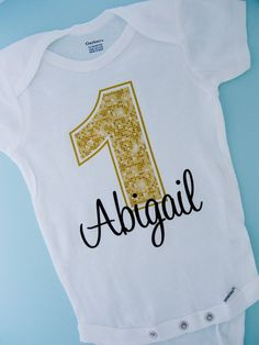 Personalized Children's First 1st Golden Birthday Onesie or Tee Shirt