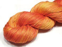 Mulberry silk yarn hand dyed silk 87g 3.1oz by VioletLynxDyeworks