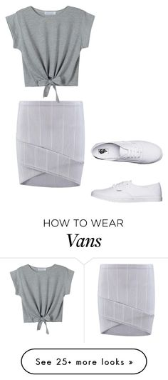 """Без названия #1740"" by martusha200 on Polyvore featuring Boohoo, WithChic and Vans"