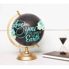 Love you earth globe made with new Brights Cricut Vinyl Sampler Pack. Make It Now with the Cricut Explore machine in Cricut Design Space. Globe Art, Globe Decor, Verona, Painted Globe, Craft Supplies Online, Cricut Explore Air, Vinyl Projects, Craft Projects, Craft Ideas