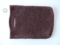 Knitted Handbags : Brown Metallic Knitted Handbag
