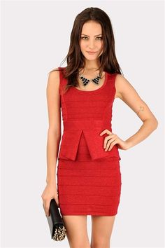 Beth Bodycon Dress - Red or black
