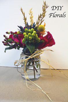 diy mason jar flower arrangement