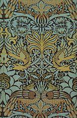 William Morris - Peacock and Dragon woven wool furnishing fabric c.1878