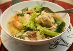 Wor Won Ton soup is often a choice for us when eating out. It is a simple broth filled with meat and vegetables in which each ingredien...