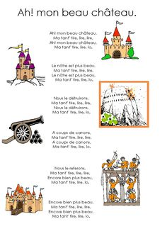 Chateau Moyen Age, Middle Ages History, French Fairy Tales, Castle Crafts, French Songs, Kindergarten Themes, Château Fort, Teaching French, Prince And Princess