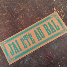 Hey, I found this really awesome Etsy listing at https://www.etsy.com/listing/207687695/jai-ete-au-bal-french-cajun-music