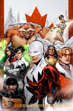 Alpha Flight | Alpha Flight variant cover by Phil Jimenez to Avengers #4// what is this and why don't i know about it?