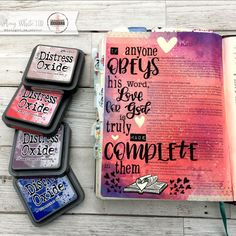 Bible journaling page by Amy White featuring the Fall in Love with Jesus stamp sets from Sweet 'n Sassy Stamps. Bible Art, Bible Verses, Scripture Journal, Good Proverbs, Sermon Notes, Bible Encouragement, Bible Prayers, Illustrated Faith, Faith Hope Love