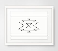 White Aztec Print Navajo Wall Art Aztec Wall by MelindaWoodDesigns, $5.00