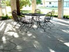 would love to have the slab look like flagstone.