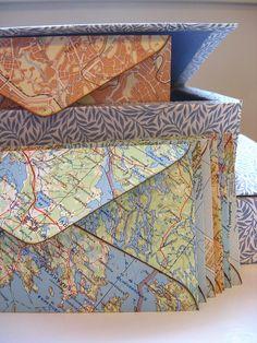 Old maps envelopes