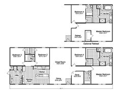 The Heritage Home IV HHP476A1 Modular Home Plan   Manufactured Floor Plans >>>>>>>  Small but great floorplan. Additional Option.