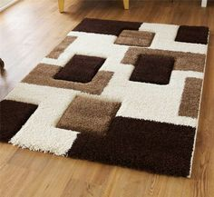 Fashion 7646 Cream Brown Rug