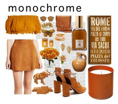 """monochrome"" by krasilnikova-y ❤ liked on Polyvore featuring Oris, Apiece Apart, BCBGeneration, Yves Saint Laurent, Frye, Culti, Dr. Vranjes, Home Decorators Collection, Ray-Ban and Jennifer Behr"