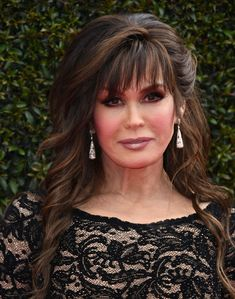 Soft Bangs, Sara Gilbert, The Osmonds, No One Is Perfect, Marie Osmond, Hairstyles With Bangs, Beautiful Celebrities, Hair And Nails, Sexy Women