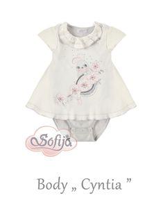 Bawełniane body dla dziewczynki Cyntia www.sofija.com.pl  #sofija #ubrania #dziecko #moda #body #lato #bawełna #kids #baby #fashion #girl #sweet #luxurygoods #luxury #summer #ребенок #лето #мода #kinder #kindermode