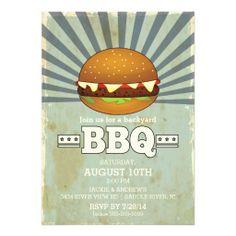 Retro Vintage Barbecue Party Invitation