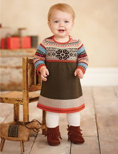 """Storyteller sweater dress"" & ""Minnetonka double fringe boots"" from Hanna Andersson.so Colorado! Baby Girl Fashion, Kids Fashion, Cute Kids, Cute Babies, Kids Outfits, Cute Outfits, Baby Faces, Boho Fashion, Nordic Fashion"