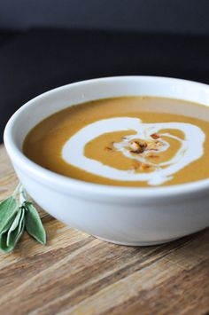 Creamy Paleo Bacon Pumpkin Soup | Fed and Fit-26. With sage and coconut milk. SCD legal