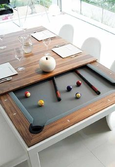 Dining Table and Pool Table in One.