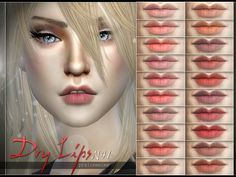 Dry Lips N41 by Pralinesims at TSR via Sims 4 Updates