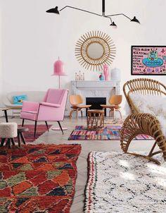 TOUCH cette image: Boucle armchair by Kok Maison, Artwork by Yann Ciberras by Si