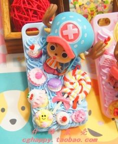 One Piece Chopa cream deco phone case