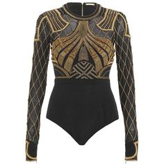 Sass & Bide Like A Boy Embellished Bodysuit (132.235 RUB) ❤ liked on Polyvore featuring intimates, shapewear, tops, bodysuits, body, dresses, rompers and french navy