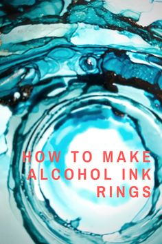 Learn to create alcohol ink rings for gorgeous pieces of art. Each ring sits on top of another, giving a multilayered appearance adding tremendous interest Alcohol Ink Tiles, Alcohol Ink Glass, Alcohol Ink Crafts, Alcohol Ink Painting, Resin Crafts, Resin Art, Alcohol Ink Jewelry, Resin Tutorial, Copics