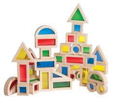 Click here for colorful block set - Jr. Rainbow Blocks-40 Piece Set: http://kiddokorner.com/educational-play/jr-rainbow-blocks-40-piece-set.html $59.95