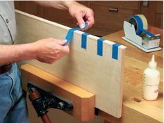 How to Apply Plywood Veneer Edge Banding to Solid Wood with Masking Tape Hold-Downs #veneer #veneering #edgebanding #tips