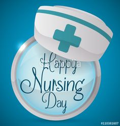 Commemorative Button with Greeting Message in Nursing Day