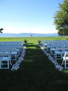 wedding ceremony at Shelburne Farms
