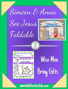 Simeon & Anna See Jesus and the Wise Men Visit Jesus printables, pictures to color & more