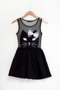 Super Sweet Cat Dress! Stacy London would be proud.