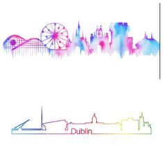 Next tattoo... Dublin skyline in water colors on inner arm