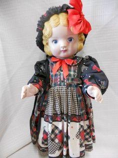 Daisy Kingdom Pansy Vinyl Doll *Scottie Dog Dress Outfit*  Blonde Hair Blue Eyes #Dolls