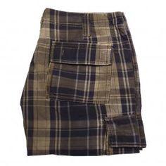 ARMANI Blue Button Down Pockets Shorts